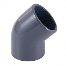 PVC коляно 45°ф40 за лепене