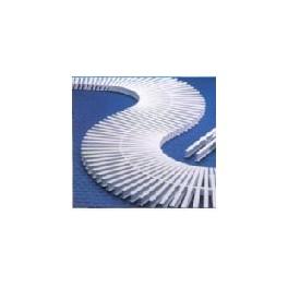 Гъвкава решетка за преливен канал 24 см. бяла
